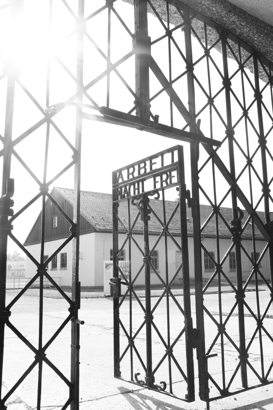 The gate of Dacau COncentration Camp