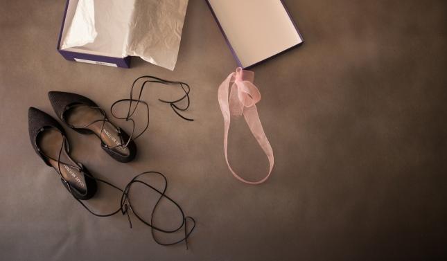 Stuart Weitzman lace up flats