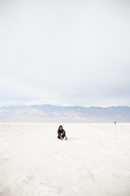 Salt flats in Death Valley